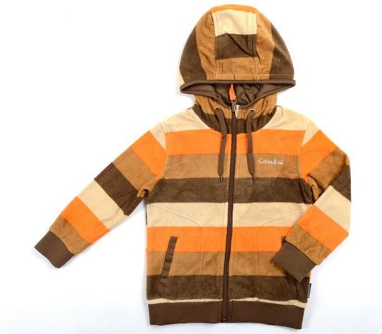 Куртка флисовая в полоску