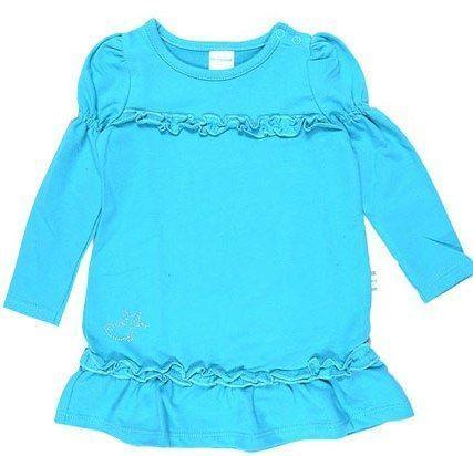 Бирюзовое теплое платье для девочки