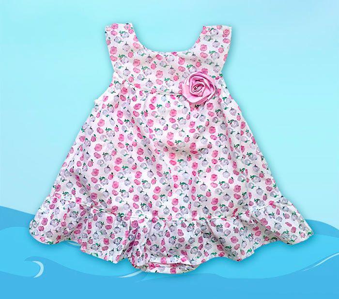 Платье из боди для девочки