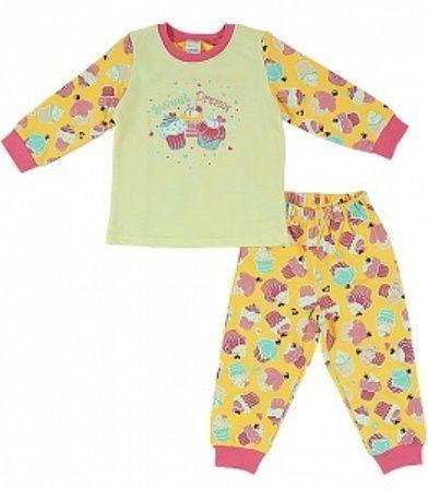 Желтая пижама для девочки Пирожное