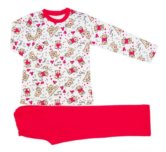 Пижама для девочки Миша и Маша
