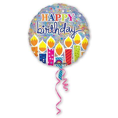 Воздушный шар фольгированный джамбо HB Свечи