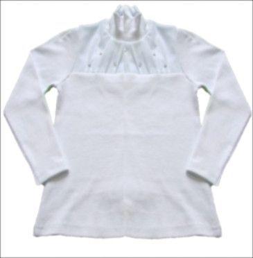 Белая водолазка для девочки (Размер: 122-128)