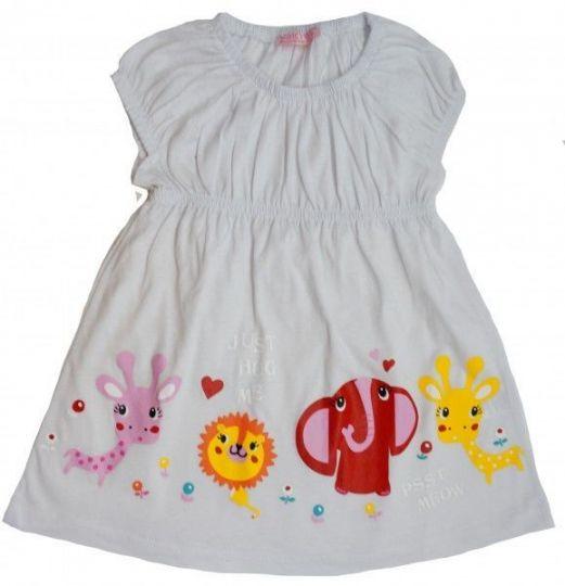 Милое платьице белого цвета для девочек