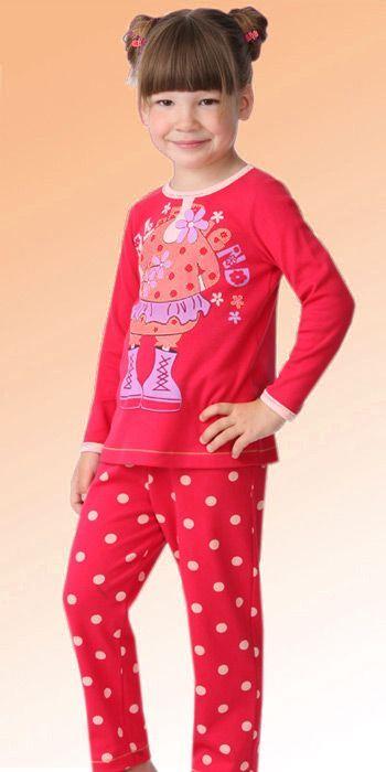 Пижама для девочки розовая (Размер: 86-92)