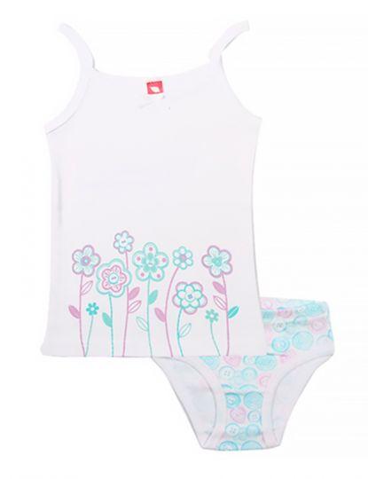 Белый комплект для девочки Начало весны