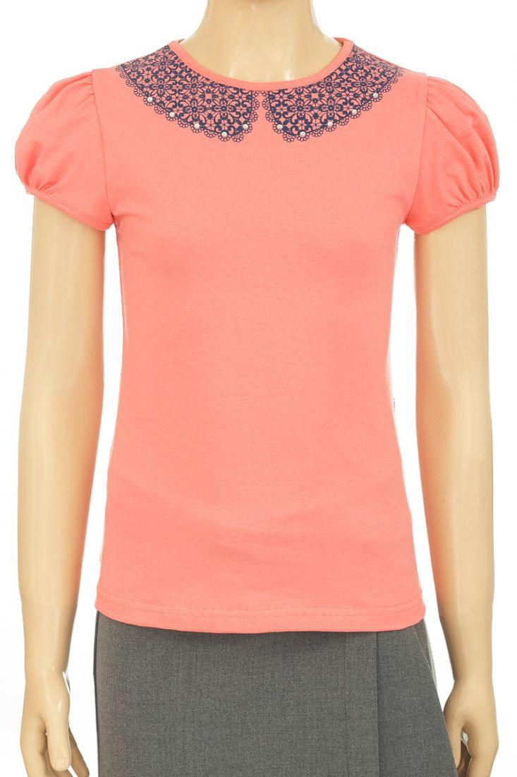 Блузка для  девочки коралловая