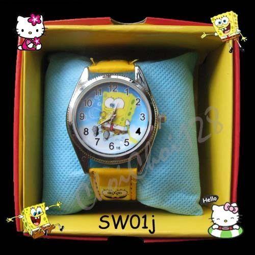 Часы Губка Боб в коробочке