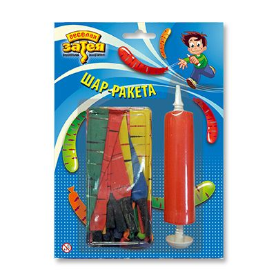 Набор шаров Ракета с насосом 24шт