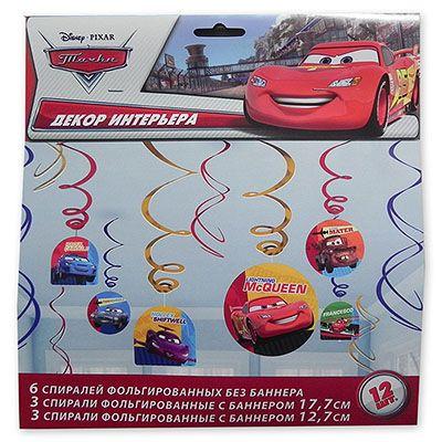 Спираль Disney Тачки, 46-60 см, 12 штук