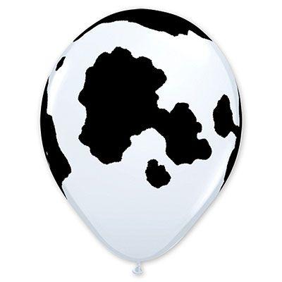 """Воздушный шар 11"""" Пятна Корова, 25 штук"""