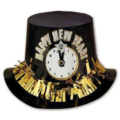 Шляпа пластиковая Новогодние Часы