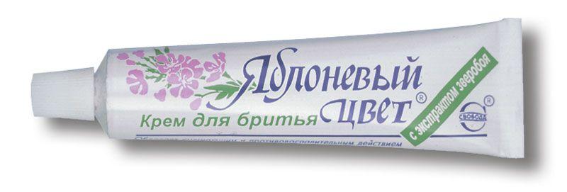 Крем для бритья «Яблоневый цвет» с экстрактом зверобоя