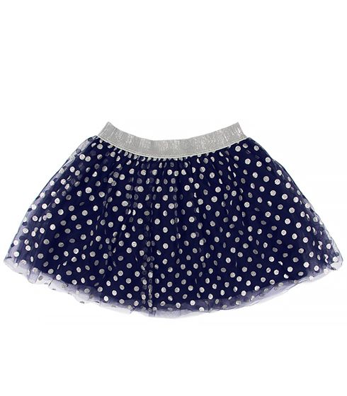 Темно-синяя юбка для девочки на праздник