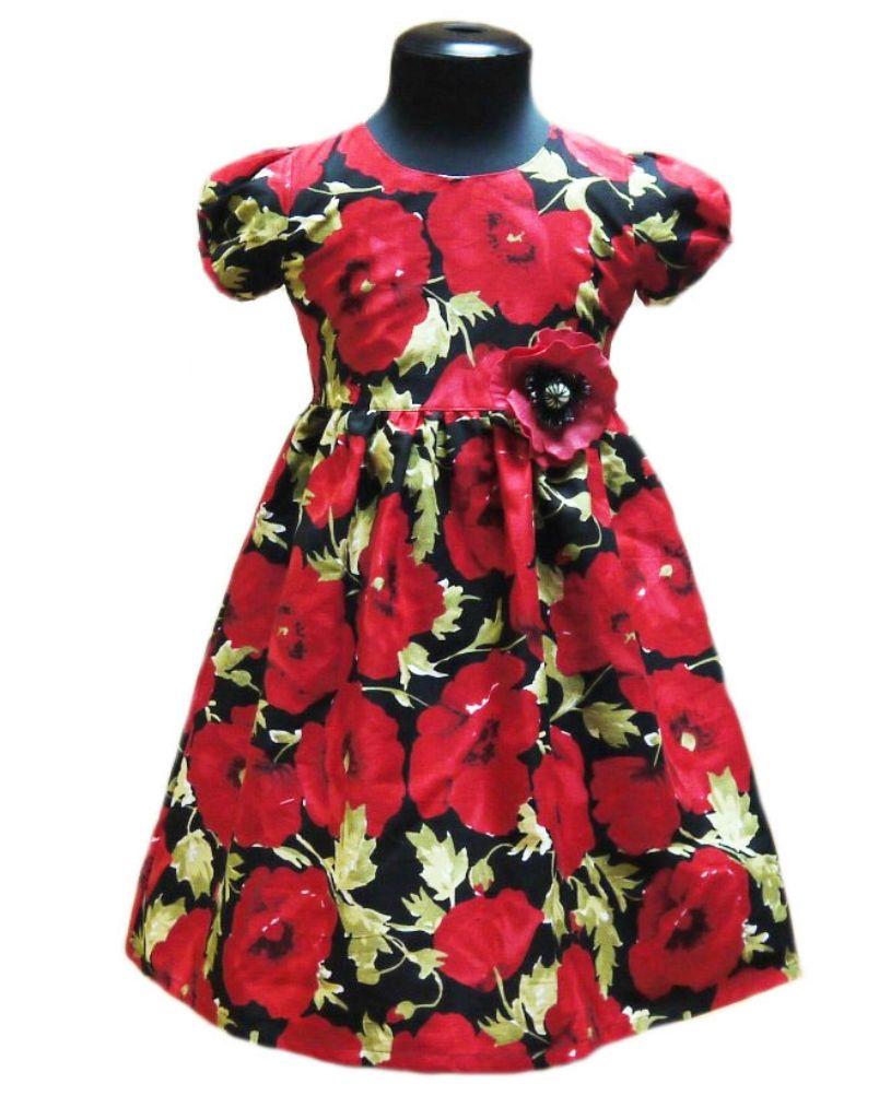 Платье хлопковое Красный мак