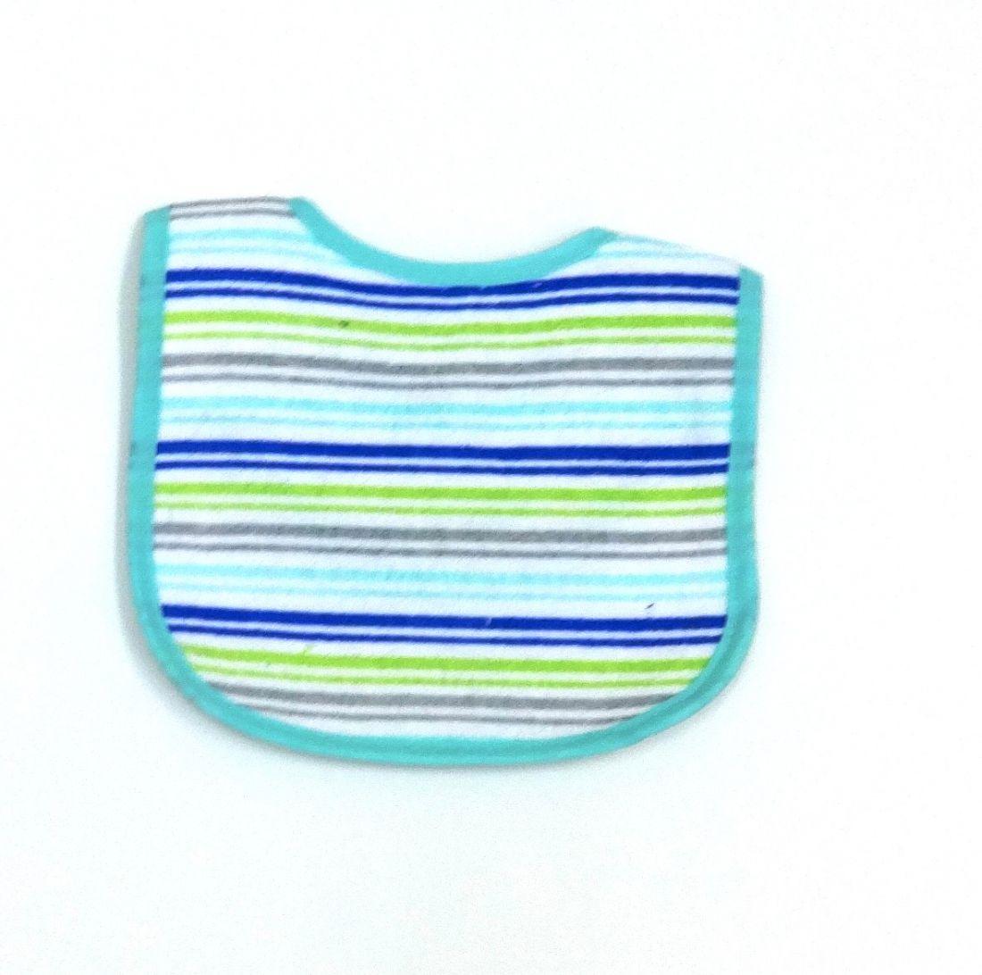 Нагрудник для малыша Разноцветная полоска
