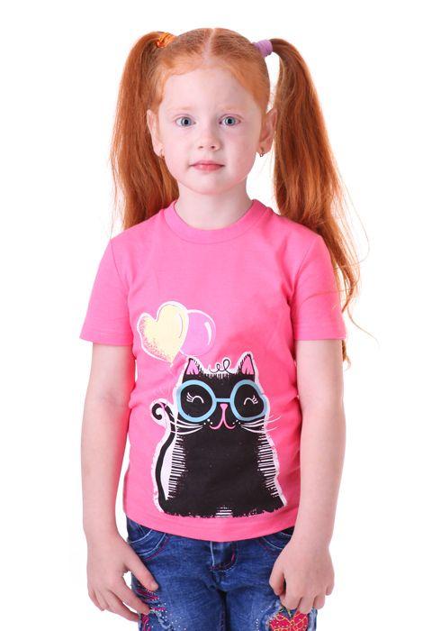 Футболка для девочки Черный кот