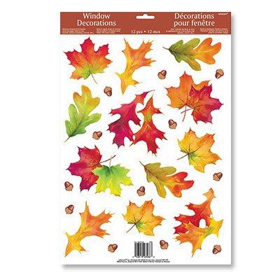 Наклейка на окно Осенние листья, 1 шт.