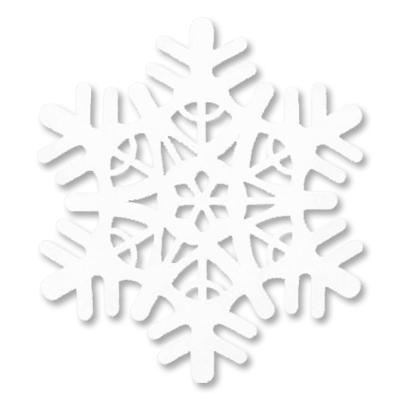 Снежинка полимер мягкая белая, 30 см, 1 шт.