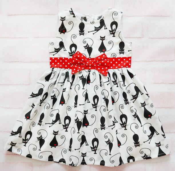 Платье для девочки Кошки