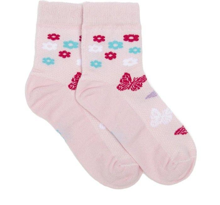 Носки для девочки Цветы и бабочки