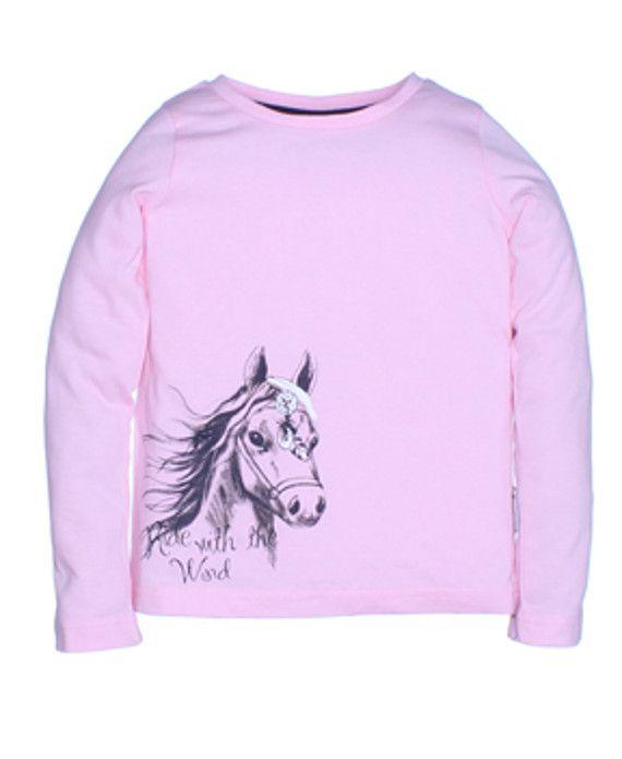 Лонгслив для девочки Horse