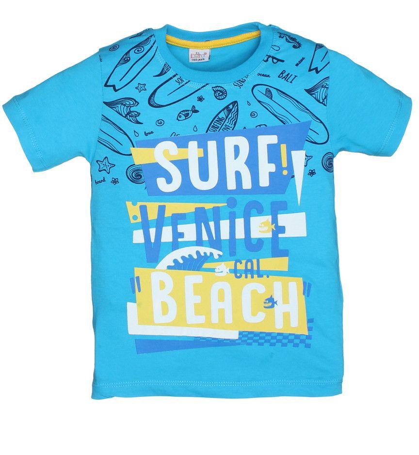 Футболки для мальчиков Surf beach turquoise